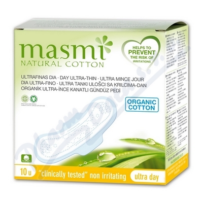 Vložky MASMI ULTRA DAY z organické bavlny 10ks