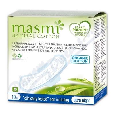 Vložky MASMI ULTRA NIGHT z organické bavlny 10ks