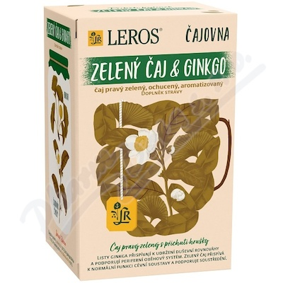 LEROS VITAL Ginkgo a zelený čaj 20x2g
