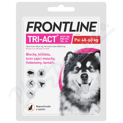 Frontline Tri-Act psi 40-60kg spot-on pipeta 1x6ml