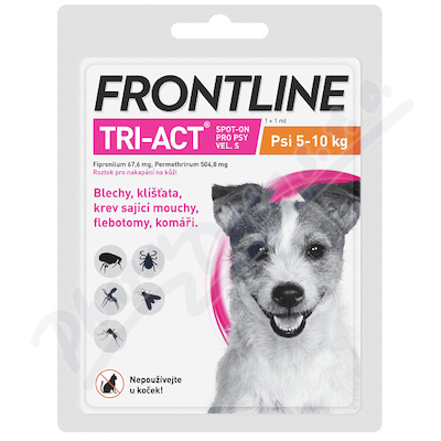 Frontline Tri-Act psi 5-10kg spot-on pipeta 1x1ml