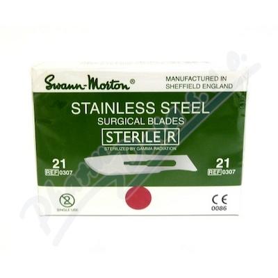 Čepelka skalpelová steril.č.21 100ks