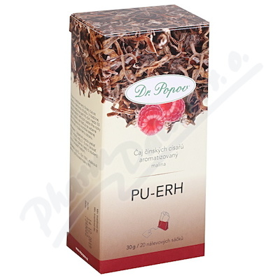 Dr.Popov Čaj Pu-Erh malina 20x1.5g