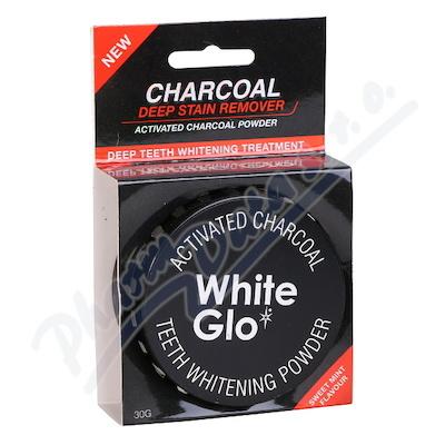WHITE GLO Charcoal bělící zubní pudr 30 g