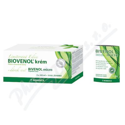 Biovenol krém 2x200ml+Bivenol micro tbl.10 ZDARMA