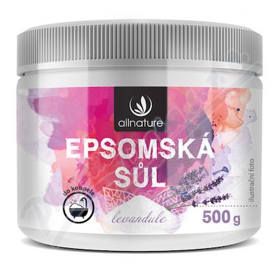 Allnature Epsomská sůl Levandule 500 g