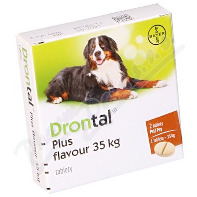 Drontal Plus flavour 35kg pro psy a.u.v.tbl.2