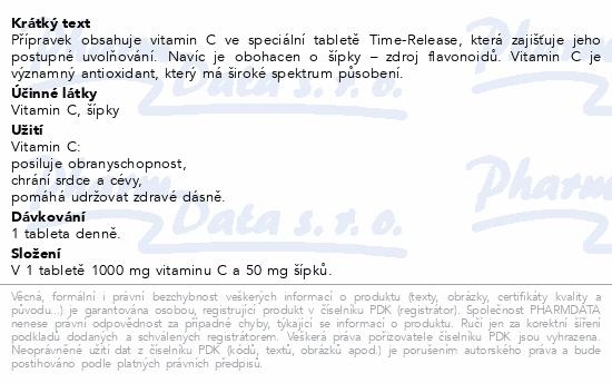 GS Vitamin C1000 se šípky tbl.50+10 2016