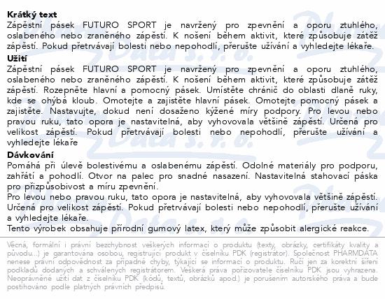 3M FUTURO Zápěs.pásek podpůrný SPORT