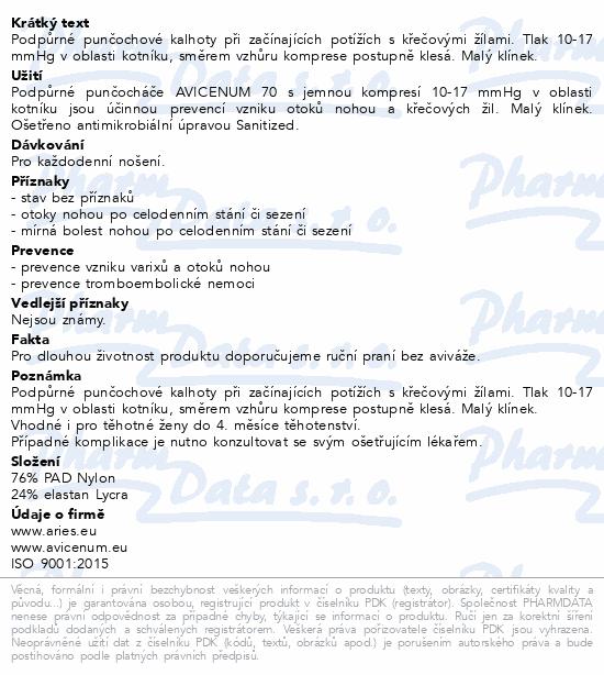 Avicenum P 70 punč. kal. 170/108 natur