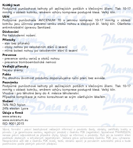 Avicenum P 70 punč. kal. 164/124 natur