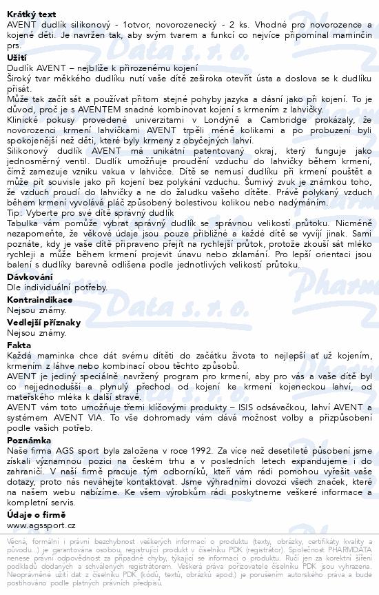 AVENT Dudlík Classic+ 1otv.novor.průt.2ks