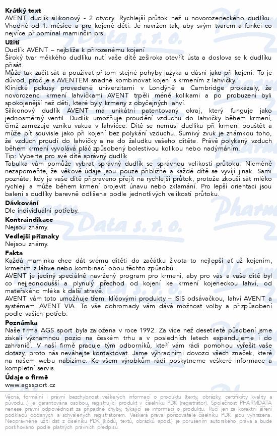 AVENT Dudlík Classic+ 2otv.pomalý průt.2ks